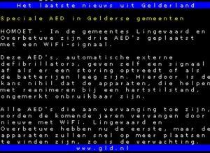 Teletekst Omroep Gelderland 18.07.2016